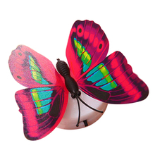 3Pcs Changing Plastic Optic Lovely Romantic LED Butterfly Party Light Gifts New(China)
