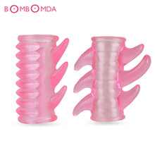 Buy Condoms Reusable Penis Sleeve Crystal Cock Ring G-spot stimulation Penis Extender Condoms Sex Toys Sex Products Men