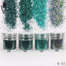 Nail Powder 1 Jar/Box 10ml Nail Tip 4 Dark Green Colors Nail Glitter Fine Powder For Nail Art Decoration 300 Colors Factory 4-31