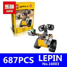 Idea Robot WALL E Model LEPIN 16003 687Pcs Building Kits Figures Educational Blocks Bricks Toys for Children Gift with 21303