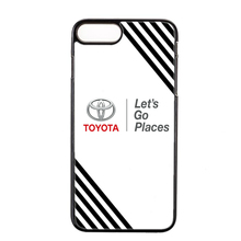 Luxury fashion car toyota logo black cover case For iPhone 4 4s 5 5s 5c SE 6 6s plus 7 7plus 8 8plus X phone case(China)