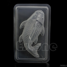 Hot Sale 1pc DIY 3D Medium Koi Fish Plastic Cake Chocolate Mould Jelly Handmade Sugarcraft Mold 28cm x 17.5cm G03 Drop ship(China)