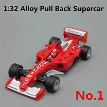 1:32 alloy F1 car model, metal casting, back sound and light, the car brand, to share collections, free shipping