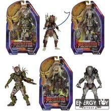 "3pcs 1pc Aliens vs Predator Series The Ultimate Alien Hunter Ghost Spiked tail Stalker predator 7"" action figure model toy dolls"