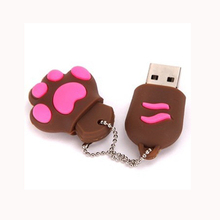 Super speed USB 3.0 Cartoon Cat Paw 8GB 16GB 32GB USB Flash Memory Disk/Pen Drive Chirstmas Gifts Pendrive Free Shipping