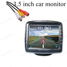 for Rear View Camera Parking digital color 3.5 inch Tft LCD small display for Camera Rearview Mirror Car Monitor free Shipping