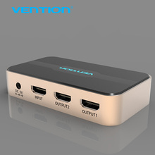 Vention HDMI Splitter 1x2 4kX2k 3D Splitter HDMI Switch Adapter 1 In 2 Out With Power Supply Metal Type For Xbox Amplifier HDCP(China)