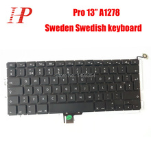 Genuine A1278 Sweden Swedish Keyboard For Apple Macbook Pro 13'' A1278 Keyboard With Blacklight Sweden Standard 2009-2012(China)