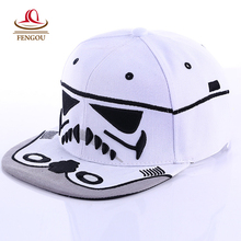 Fashion Brand Star Wars Snapback Caps Cool Strapback Letter Baseball Cap Bboy Hip-hop Hats For Men Women fitted hats(China)