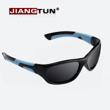 JIANGTUN 2018 Super Light Kids TR90 Polarized Sunglasses Children Safety Brand Glasses Flexible Rubber Oculos Infantil JT3452(China)