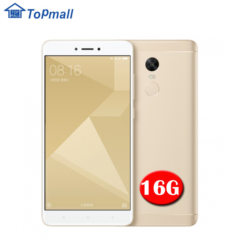 "Original Xiaomi Cell phone Redmi Note 4X 16GB 5.5 "" Snapdragon 625 MIUI 8 1080P Fingerprint ID 4G FDD LTE google play freegift(China)"