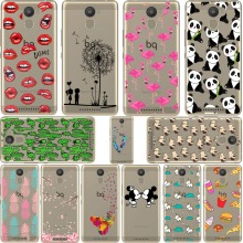 Mickey&Minnie kiss Lips pineapple unicorn Flamingo cactus panda Clear soft silicone case cover For bq Aquaris U plus fundas 5.0