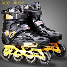 Japy Skate Mars Inline Skates Professional Slalom Adult Roller Skating Shoes Sliding Free Skating Good As SEBA Patines Adulto(China)
