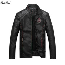 Bolubao Suede Jacket Coat Faux-Leather Motorcycle Male Winter Fashion Autumn PU Outerwear