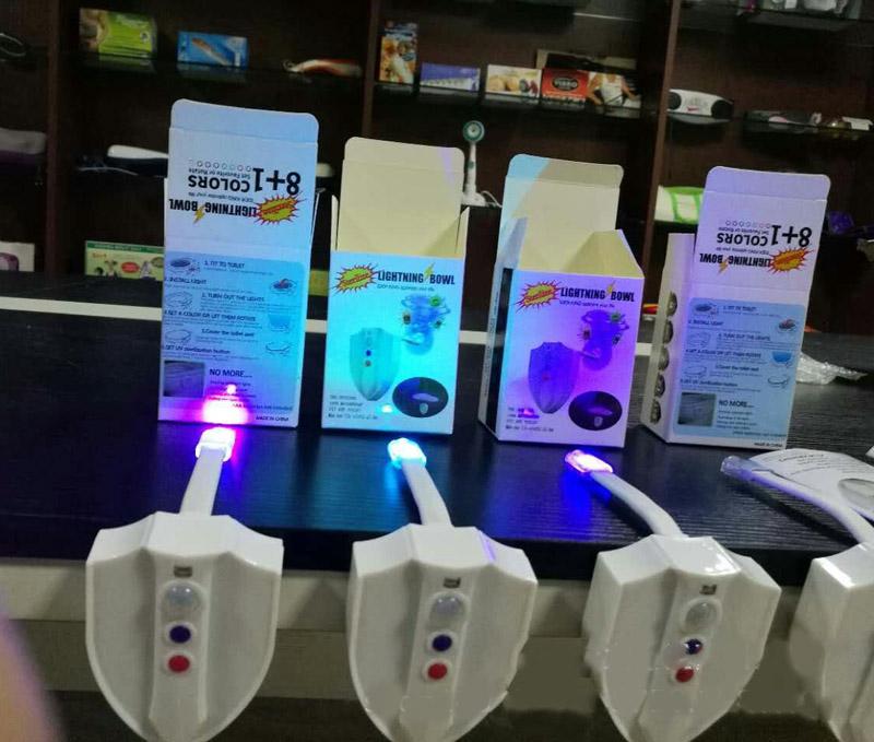 UV Sterilization LED Toilet light 8 Colors Waterproof Motion Sensor light Backlight for toilet Bowl Bathroom Lamp Night Light