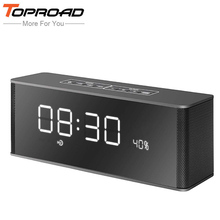 TOPROAD Portable enceinte Bluetooth Speaker Receiver Super Bass Wireless Speakers for Phone Computer Support TF FM Alarm Clock