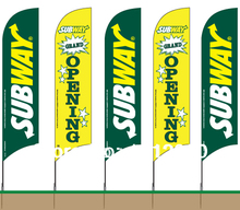 Custom Feather Flags 360X85cm One side printing Flags with Ground spike (printing one side,  other sided in a reverse image)