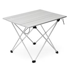 Aluminum Folding Table Collapsible Camping Table with Carrying Bag Outdoor Indoor Picnic Table for Beach Hiking Travel Fishing