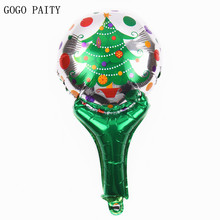 GOGO PAITY Free Shipping Mini Handheld Christmas Tree Christmas Ornament Decorative Balloon Wholesale(China)