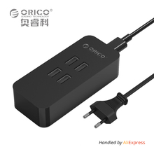 ORICO DCV-4U 4 Ports USB Charger Mini Smart Charger 5V2.4A *4 Max Output 20W Desktop Charger EU/US/UK/AU Plug Black/White(China)