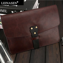 fbd0e80e459f New Trend Vintage Men Business Casual bag for Male Black Soft PU Leather  Men s Fashion Shoulder Brand Men Clutches Envelope Bags