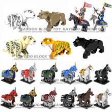 Wholesale 6cm knight Horse Block Single Sale Nazgul Horse Rings Lord Hobbit Building Blocks Kids Toys Gifts(China)