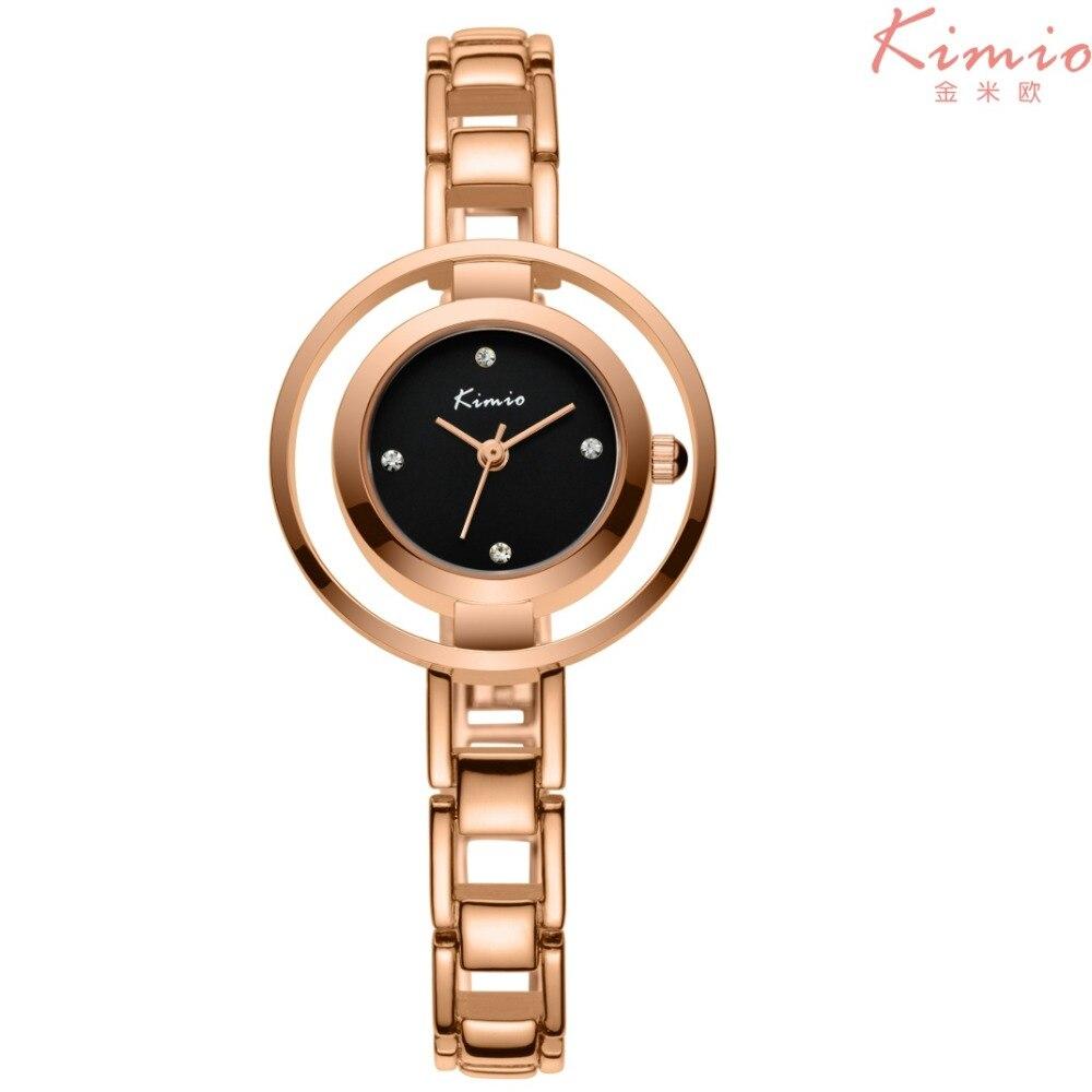2017 New Luxury Brand Watch Casual KIMIO Alloy Women Quartz Watch Rose Gold Lady Dress Watch Relojes Mujer Relogio Montre Femme<br><br>Aliexpress