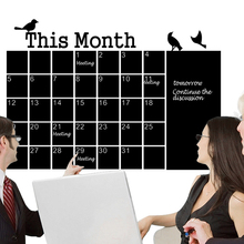 DIY Creative Monthly Chalkboard Blackboard Removable Wall Sticker For Month Plan Calendar Chalkboard Office Home Decor
