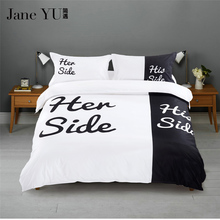 JaneYU New luxury Lover bedding set duvet cover set king Queen size wedding bed set include One Quilt cover Two pillowcase(China)