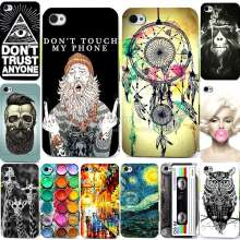New Fashion Perfect Design Painting Pattern Case For Apple iPhone 4s 4 iPhone4 Back Cover For iPhone 4s Phone Cases
