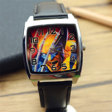 hot selling super hero X-Men Origins Wolverine design women and men casual leather watch child and boys quartz Xmas gift watch