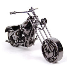 Decorative Handmade Iron Motorcycle Model Metal Art Craft Nice Personalized Gift Antique Decoration for Home Cafe Bar