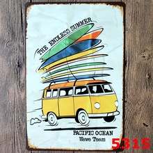 "New VW Bus Vintage Tin Sign 8""x12"" AD Metal Sign Bar/Pub/Garage Wall Decor Home Decorative Metal Plaque Metal Art Poster"