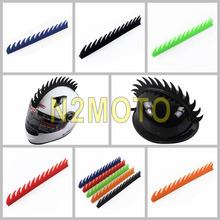 Black Blue Red Orange Motorcycle Helmet Sticker Mohawk Spike Cool Biker Warrior Stick Rubber Strip Motobike Capacete Decoration