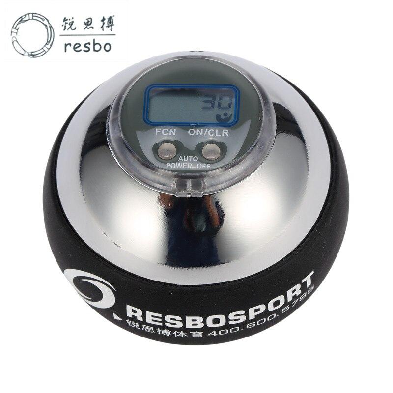 48lbs 12000+ RPM Power Wrist Metal Energy Ball Gyroscope Silver Counter Wrist Ball Strengthener Spinner Counter Fitness Ball T<br>
