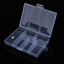 120L Fixable 6 Compartment Plastic Storage Box 118*85*20mm Fishing Holder High Quality Fishing Accessories 33g