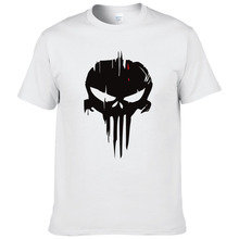Buy Punisher skull Printed Mens T Shirt Fashion 2017 Summer Men T-shirt Short Sleeve Cotton Tshirt Tee Camisetas #174 for $6.13 in AliExpress store