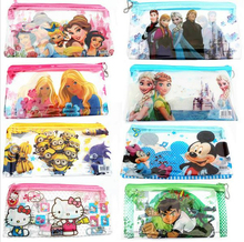 (1Pcs/Sell)  Boys & Girls Cartoon PVC Lovely Pencils Case Cosmetic School Supplies Bts Stationery Gift Estuches Pencil Bags