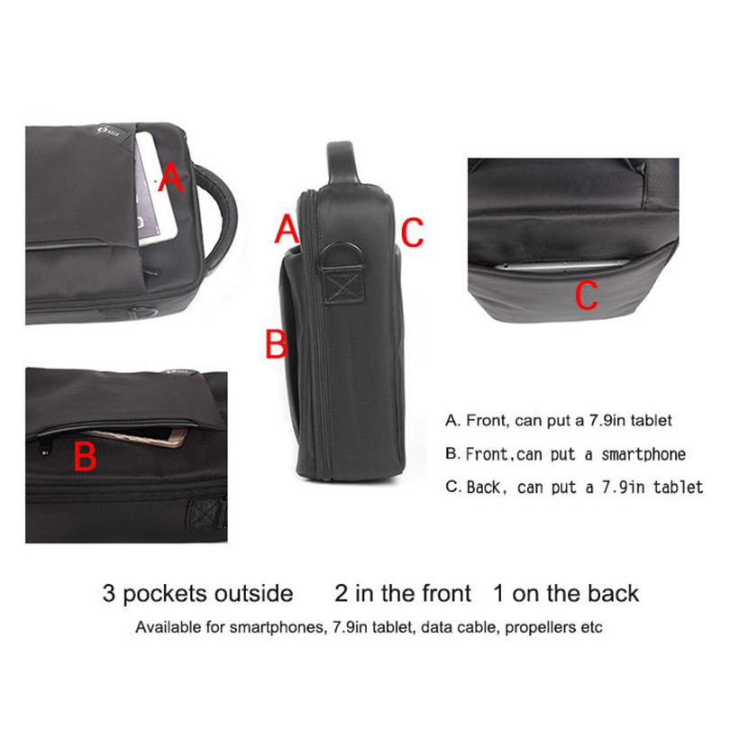 Waterproof Portable Hand Bag Carrying Case Hard Storage Box For DJI Spark Drone drop shipping 1030