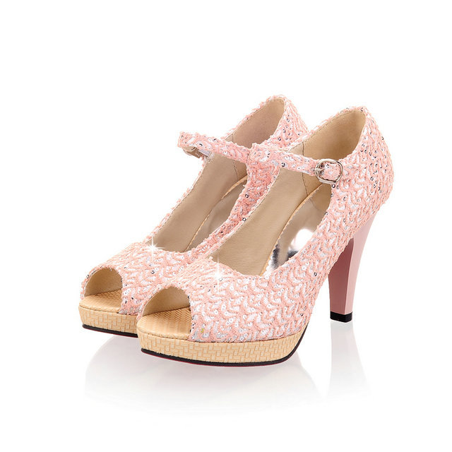free shipping size 32-43 High quality 2015 new Open Toe High Heels Women lace Pumps new shoes women wedding party pumps<br>