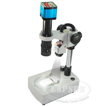 14MP HD Industrial Lab Microscope Camera HDMI USB TF Card Video Recorder Top Bottom Light Pillar Stand 180X C-MOUNT Zoom Lens(China)