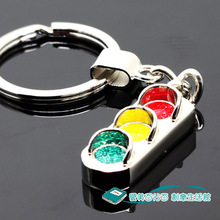 Traffic light male keychain logo key chain(China)
