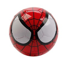 Joerex Spider Man Soccer Ball Size 3 Safe PVC Training Football Ball for Kids(China)