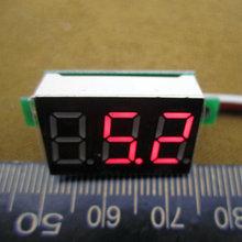 HOT SELLING 1pcs/lot Portable Digital Voltmeter DC 0-100V Red Light LED Panel Voltage Meter  drop shipping