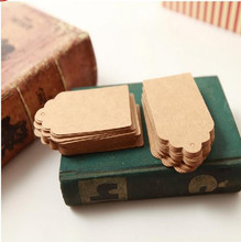 100 Pcs/Set 5x3cm Kraft Paper Tags Brown Lace Scallop Head Label Luggage Wedding Note DIY Blank Price Hang Krafts Gift