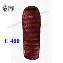 2015 Black Ice E400L high quality whit goose down outdoor camping spring and autumn sleeping bag(China)
