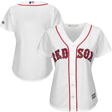MLB Women's Boston Red Sox White Home Plus Size Cool Base Jersey(China)