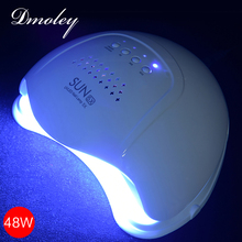Dmoley 48W SUN5X UV Light LED Lamp Double light Nail Dryer With Sensor Nail Lamp For Curing UV Gel Nail Polish Low Heat Mode