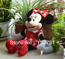 Red Skrit Minnie Plush Toy, 45cm Baby Gift, Kids Doll Wholesale with Free Shipping