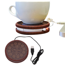 Arsmundi Portable Cookie Shape Cup Mat USB Power Supply Cable Heater Mat Drinks Warmer Mug Drink Coaster Vacuum Cup Pad